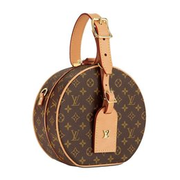 Design redondo de embalagens on-line-2018 clássico moda de luxo designer de design de marca senhoras PU de couro mini rodada pacote diagonal de ombro