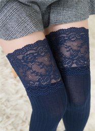1323c74d51c winter cable knit over keen long boot thigh-high warm socks leggings girls  lace crochet knitted stockings