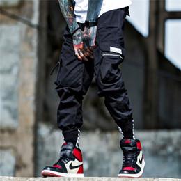 pantalones harem jogger para hombre Rebajas Pantalones cargo de cinta Pantalones harem Hombres Joggers de hip hop Pantalones de retazos de color