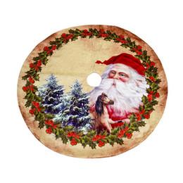 skirting decorazione Sconti Babbo Natale Albero di Natale Gonna Tessuto non tessuto modello Cartoon albero di Natale fondo Decoration gonna 120cm