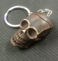 Canada Livraison gratuite yqtdmy plus récent 12 pcs Punk Style Tête Crâne / Squelette Faux Charme Cadeau pour FemmesHommes Bijoux Porte-clés cheap jewelry heads Offre