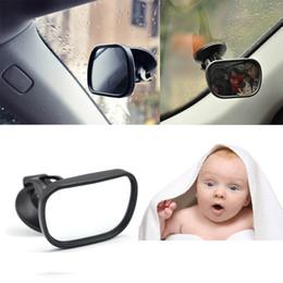 2019 vw cc fibre de carbone Mini voiture Retour Seat Voir le produit Baby Mirror 2 en 1 Mini Enfants arrière Miroir Moniteur Convex Enfants auto ajustable Sécurité de marche arrière Siège de sécurité