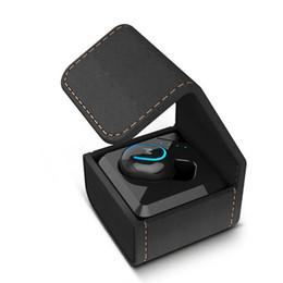 Bluetooth se online-Q3 MINI Wireless Business Auricolari Bluetooth Cuffie con 400MAh scatola di immagazzinaggio Auricolari Cuffie per il telefono IPhone Se 7 X Xiaomi