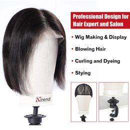 BEAUTY Poly Block professionale manichino testa bianca per fare parrucca asciutto stile di visualizzazione con foro di montaggio da