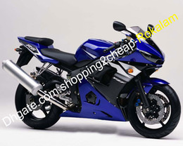 2021 kit yamaha personalizzato r6 YZF R6 Bodywork carenatura set per Yamaha YZF600 YZFR6 2003 2004 03 04 ABS Blue Cowling Kit (stampaggio a iniezione) kit yamaha personalizzato r6 economici