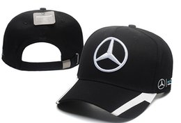 champions sports Promo Codes - Free Shipping Mercedes Benz cap bone gorras Snapback Hat F1 Champion Racing Sports AMG Automobile Trucker Men Adjustable Golf Cap Sun Hat