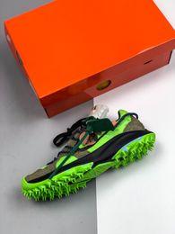 2019 Nuevo x Zoom Terra Kiger 5 Atleta en progreso Blanco Verde Negro Atleta en progreso Zapatillas de correr para hombre Zapatillas de deporte exteriores Deportes desde fabricantes