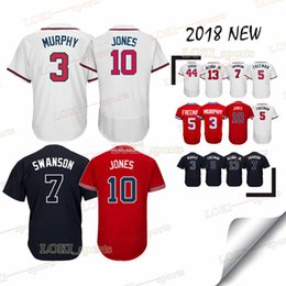 6f779f47c Atlanta Braves jerseys 5 Freddie Freeman 3 Dale Murphy 44 Hank Aaron 10  Chipper Jones 18 19 jersey sportswear