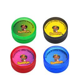 Marley grinders online-48 teile / los 2 Teile 30 MM MINI Acryl Hartplastik tabak Herb Grinder Reggae Grinder Jamaica BOB Marley Tabak Grinder