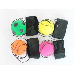 Palle di reazione online-Casuale più Style Fun Toys Bouncy Rubber Ball Wrist Band Ball Decompressione Giocattolo Divertente Palla Elastica Formazione Reazione abilità C6621