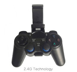 juegos Rebajas 10pcs by Post 2.4G Controlador de juegos inalámbrico Gamepad Joystick mini control remoto para caja universal de TV y Smartphone
