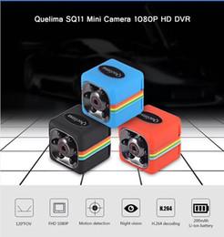mini-detektiv-kameras Rabatt SQ11 1080P Mini Kamera Portable HD Nanny Cam mit Nachtsicht Bewegungserkennung für Home / Office Security Überwachungskamera