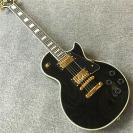 chitarre elettriche ems Sconti Chitarra nera di spedizione gratuita con 2 pezzi di pickup P90 per chitarra elettrica EMS spedizione gratuita