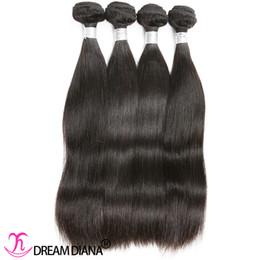 vierge chinoise cheveux raides Promotion Human Bundles cheveux raides Virgin Hair Extensions européennes chinoise de Mongolie péruvienne Indien malais du Brésil Cheveux Weave 3 ou 4 Bundles
