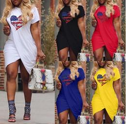 2019 gummistiefelclub 2019 Frauen Sommer LIEBE Lässige Kleidung Kreuz Designer Kurzarm Candy Farbe Kleider Plus Größe 5XL