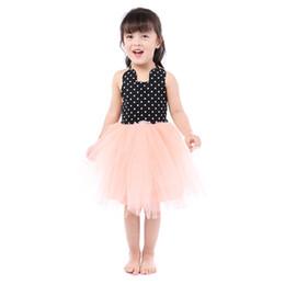 Petites Filles Pois Tulle Robe De Fête En Gros Enfants Vêtements Bébé Fille Princesse Dos Nu Robe 5PCS / LOT ? partir de fabricateur