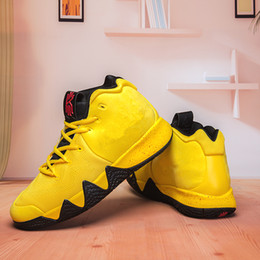 4c46e6e8d2c7 Chaussures Kyrie IV 4s Green Mens Basketball Shoes Irving 4 Sports Training Sneakers  Running Shoes size 40-46