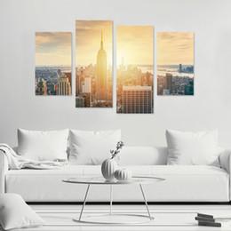 Canada 4pcs / set 3D Ville Paysage Combinaison Stickers Muraux Décor À La Maison Canapé Mur Chambre Affiche Auto-adhésif PVC Art Mural Papier Peint Offre
