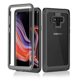 graffiare il telefono Sconti Custodia per cellulare Full Body da 360 gradi per Samsung Galaxy Note 9 Pellicola salvaschermo integrata per Samsung S9 Plus S10