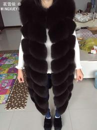 design de colete para mulheres Desconto 2.018 pele real colete de pele outerwear casaco longo de design o-pescoço camisola colete feminino colete