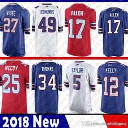 Discount bills jerseys - Buffalo 17 josh Allen Bills 27 Tre Davious White  Jersey 12 e4875e7cd