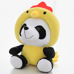 china doll christmas Promo Codes - 40cm Panda Plush Toys 12 China Zodiac Dolls Lovely Colorful Panda Dolls Toys Children Birthday Creative Gifts Home Decoration L147