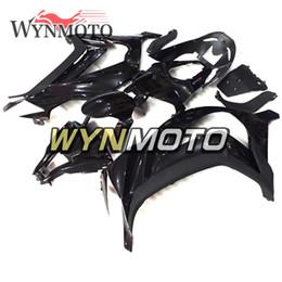 Pintura moto plástica online-Pintura negra brillante Carenados completos para Kawasaki ZX10R 2011 2012 2013 2014 2015 NINJA ZX-10R ABS plástico inyección motocicleta carrocería Carene