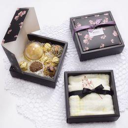 weihnachtsnahrungsmittelpakete Rabatt Papier Box Süßigkeiten Kuchen Cookies Behälter Lebensmittel Kleidung Schal Serviette Verpackung Weihnachten Baby Shower Party Geschenk