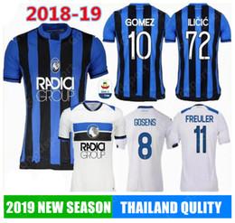 2019 Atalanta B.C. Camisetas de fútbol local visitante 1819 GOSENS CORNELIUS GOMEZ CRISTANTE ILICIC PASALC DUVAN Atalanta BC Camisetas de fútbol desde fabricantes