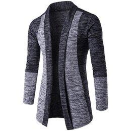 Maglione dei polsini online-Maglione di autunno di nuova moda Polsino classico Colori di successo Maglioni da uomo Cardigan di alta qualità Cappotto casual Uomo Maglioni Maglieria
