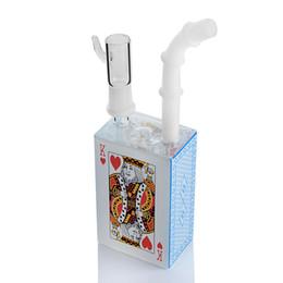 Canada Bouteille Bubbler Bongs Boîte De Jus De Huile Rigs Verre Épaisse Eau Bongs Fumer Heady Verre Tuyaux D'eau En Verre Unique Narguilé Tamponnez Avec 14mm Joint supplier oil rig juice Offre