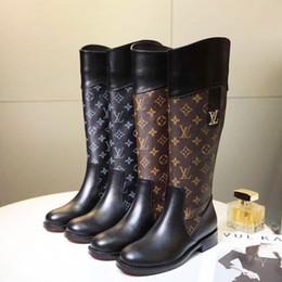 Diz Yüksek Kadın Çizmeler Yuvarlak Ayak Deri Ayakkabı Kama Topuklu kadın Çizmeler Zip Up Ayakkabı Kadın Artı Boyutu Lüks Kadın Çizmeler Botas de mujer cheap botas plus size nereden botlar artı boyutu tedarikçiler