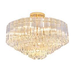 Lámparas decorativas de techo online-Nuevo diseñador de tira larga, vidrio, lámparas de techo led, postmoderno, sala de arte, luces de araña, luces decorativas de ámbar, lámparas de araña