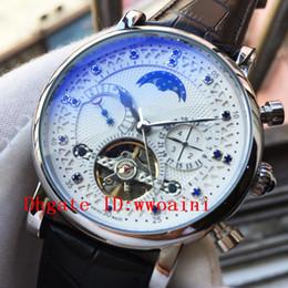 movimento orologio tourbillon Sconti New Moon Phase Guarda i migliori orologi di lusso del marchio Tourbillon Automatic Movement Watch Mens Leather Watches Calendario della settimana Orologio Relojes Masculino