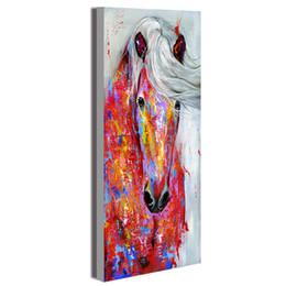 2019 zuhause dekor gerahmte pferd malerei HDARTISAN Wandkunst Leinwand Malerei Tier Bild Poster Das Pferd Porträt Drucke Wohnkultur Kein Rahmen rabatt zuhause dekor gerahmte pferd malerei