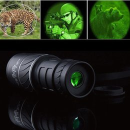 outdoor telescope monocular Promo Codes - Telescope Panda Day & Night Vision 40x60 HD Optical Monocular Hunting Camping Hiking Outdoor Telescope