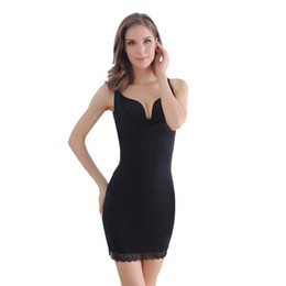 black shapewear dress Coupons - Women Slimming Underwear Full Control Slips Sexy Push Up Dress Body Shaper Shapewear Seamless Underbust Waist Trainer Lingerie
