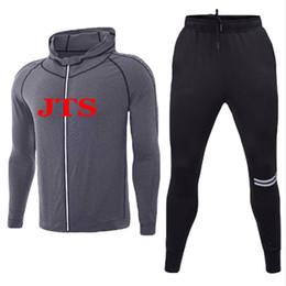 JST1-300 Hommes Cachemire Fitness Compression Running Sweat Ensembles Pantalons À Séchage Rapide + Haut Entraînement Exercice Sport Sweat À Capuche Manteau En Tissu ? partir de fabricateur