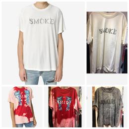 2019 diamantes de sudáfrica 20ss verano Buena calidad amiri mens diseñador camisetas Tee de algodón diseñador ropa camisetas Marca manga corta Camisetas grandes chicos tamaño 4xl
