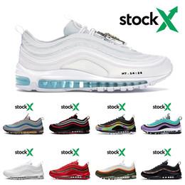 2020 zapatos de color amarillo para los hombres Nike Air Max 97 Nuevas zapatillas para hombre rojo de las mujeres del leopardo de triple negro reflectante de color blanco brillante Bred Citron 97 instructor para hombre de las zapatos de color amarillo para los hombres baratos
