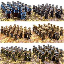 ziegel spielzeug armee Rabatt 21 teile / satz Ww2 Army Military Bausteine Frankreich Italien Japan Großbritannien China Kleine Soldat Offizier Waffen Ziegel Spielzeug Q190521