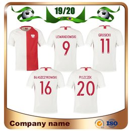 tazze speciali Sconti 19/20 Polonia Special Edition100th Anniversary Coppa europea Soccer Jersey 2019 LEWANDOWSKI GROSICKI MILIK PISZCZEK T-Shirt da calcio Uniforme