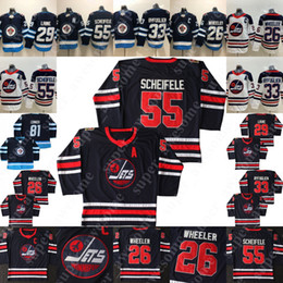 Blake wheeler jersey online-55 Mark Scheifele Jersey 26 Blake Wheeler 33 Dustin Byfuglien 29 Patrik Laine 81 Kyle Connor Winnipeg Jets Eishockey Trikots Navy White