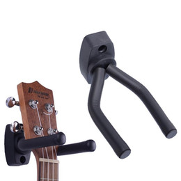 Estante de gancho montado en la pared online-2019 Sagitar Soporte para gancho para guitarra Soporte para montaje en pared Soporte para rack Exhibición de soportes Se adapta a la mayoría de la guitarra Bajo Guitarra Gancho de pared