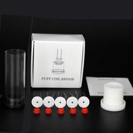 Elementos de la bobina online-Puff bobina kit de reparación de reparación Puffco pico con 5pcs elemento de 1,3 mm de espesor calentamiento de la bobina con ojales y alineamiento de la plantilla del atomizador