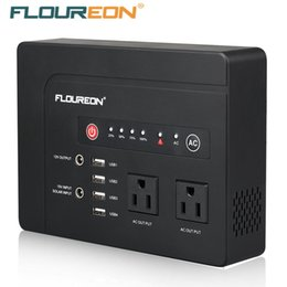 dc macbook Promo Codes - Floureon 200W Power Bank Box With AC120V DC Outlets 4 USB Ports Solar Input Station Battery For MacBook Laptop Phone Camping