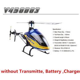 helicópteros walkera Rebajas Walkera V450D03 6CH 3D Versión de kit de helicóptero RC de 6 ejes-Gyro Flybarless (sin TransmitteBatteryCharger)