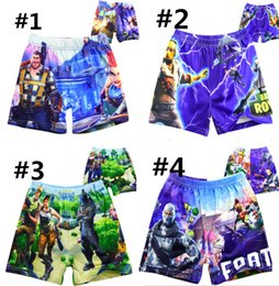 e650122108 Game Fortnite boys Swimwear Swim Trunks Shorts Cartoon pattern swim Caps boy  Stretch Beach Swimsuit Cosplay costume 6-11T Trousers Gifts