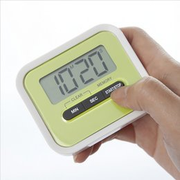 Reloj despertador de pie online-El regalo de Navidad, la cocina digital, cuenta hacia abajo / sube el temporizador de la pantalla LCD / la alarma del reloj con el soporte del imán Clip