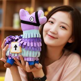 8inch fortaleza juguetes de peluche 20cm noche púrpura 8 '' animales de peluche de la llama figura muñeca suave alpaca arco iris Caballo niños de juguete de rol juegos de dibujos animados niños desde fabricantes